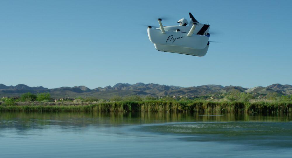 La aeronave ultraligera Flyer durante el vuelo