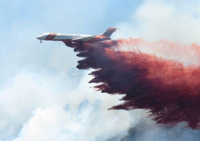 Extinción del incendio forestal en Colorado