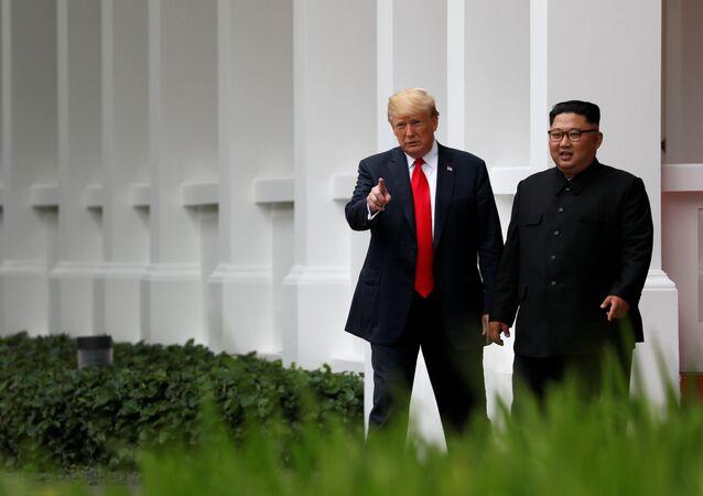 El presidente de EEUU, Donald Trump y el líder norcoreano Kim Jong-un