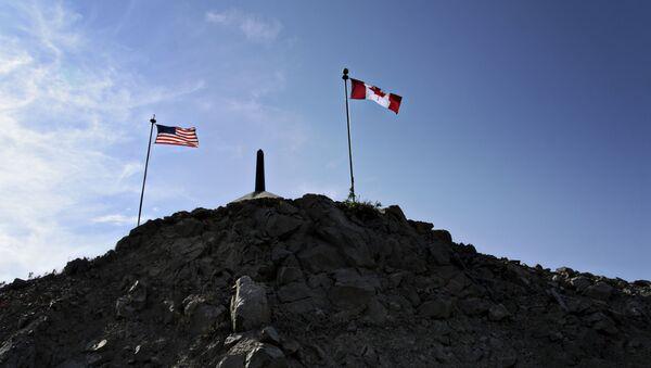 La frontera entre EEUU y Canadá - Sputnik Mundo