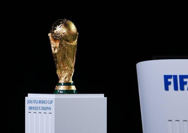 La copa del Mundial de FIFA 2018 en Rusia
