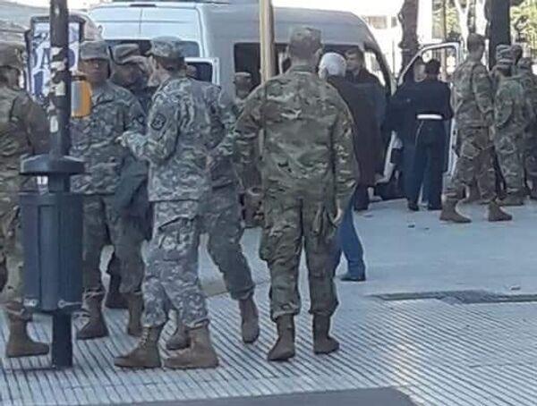 Soldados estadounidenses y equipamento israelí en Argentina - Sputnik Mundo