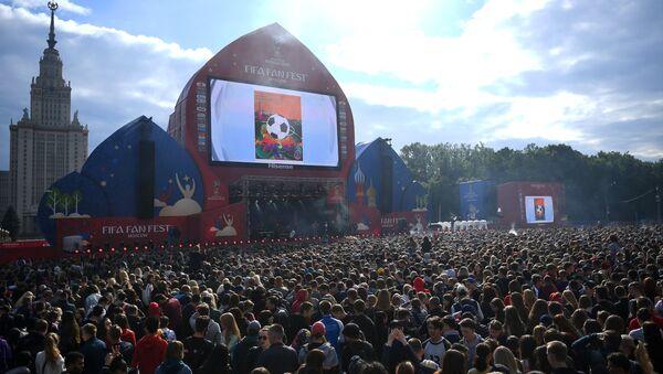 La zona del Fan Fest, situada en Vorobiovy Gory en Moscú - Sputnik Mundo
