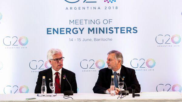 Reunión ministros de energía del G20 en Bariloche, Argentina - Sputnik Mundo
