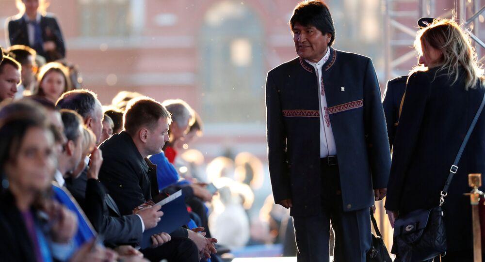 Evo Morales en Rusia