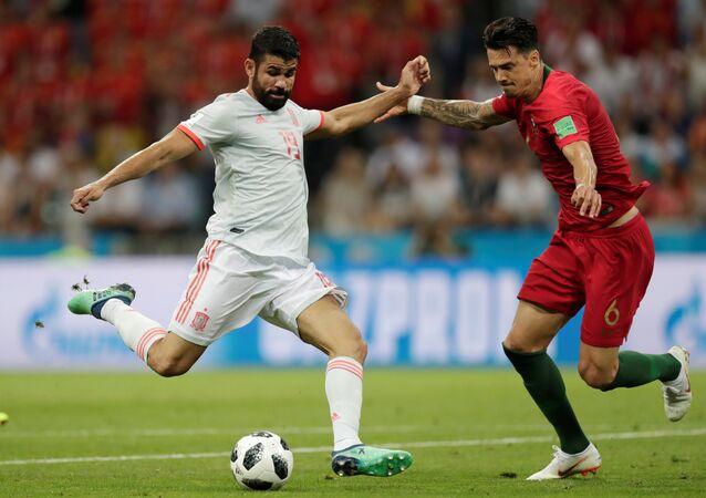 Diego Costa, futbolista español (izquierda)