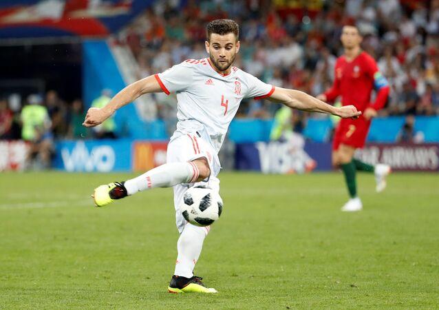 Nacho Fernández, futbolista de la selección española