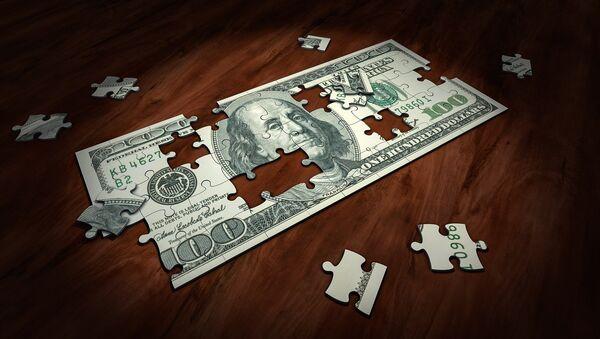 Un puzzle de dólar, referencial - Sputnik Mundo