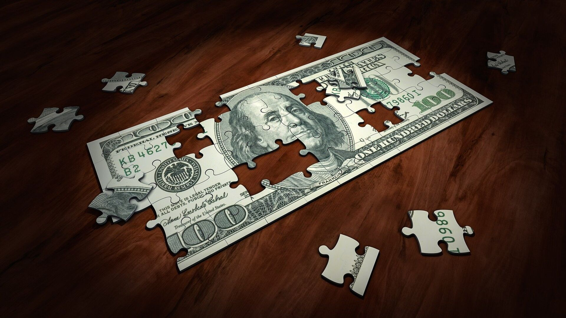 Un puzzle de dólar, referencial - Sputnik Mundo, 1920, 04.06.2021