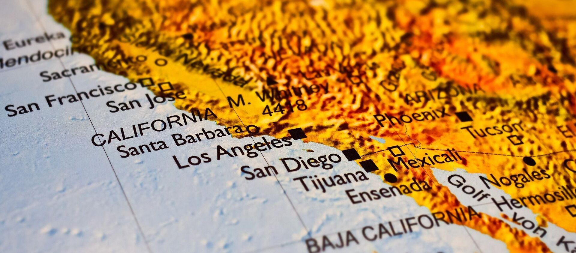 California en el mapa - Sputnik Mundo, 1920, 16.06.2018