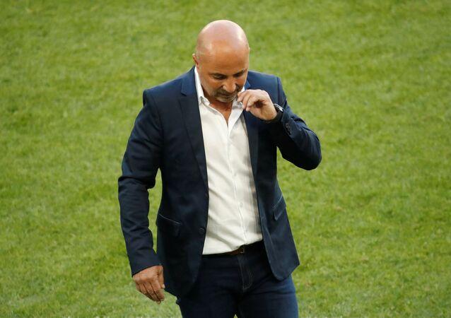 Jorge Sampaoli, entrenador de la selección argentina