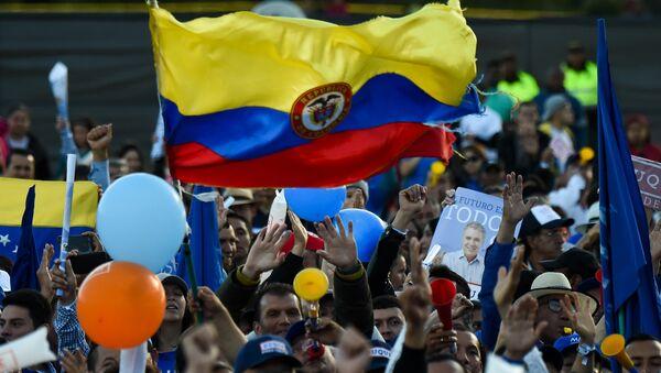 Marcha de apoyo a Iván Duque Márquez, candidato presidencial en las elecciones de Colombia 2018 - Sputnik Mundo