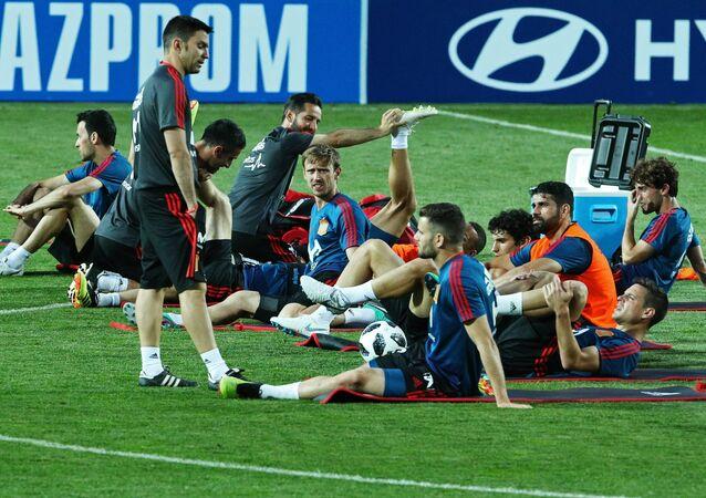Un entrenamiento de la selección española en Krasnodar, Rusia