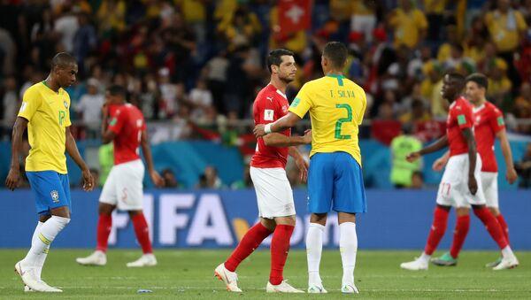 El partido entre Brasil y Suiza - Sputnik Mundo