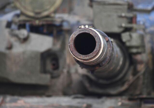 Cañón de un tanque (imagen referencial)