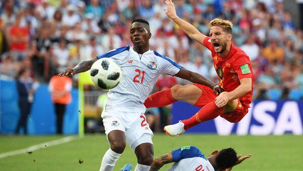 Futbolistas durante el partido entre Panamá y Bélgica - Sputnik Mundo