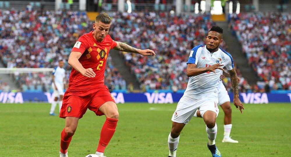 El partido entre Bélgica y Panamá