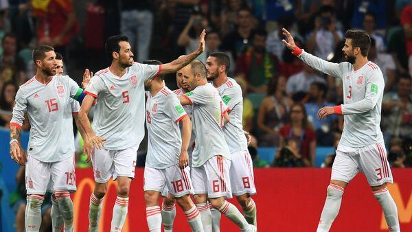 Los futbolistas de la selección española - Sputnik Mundo