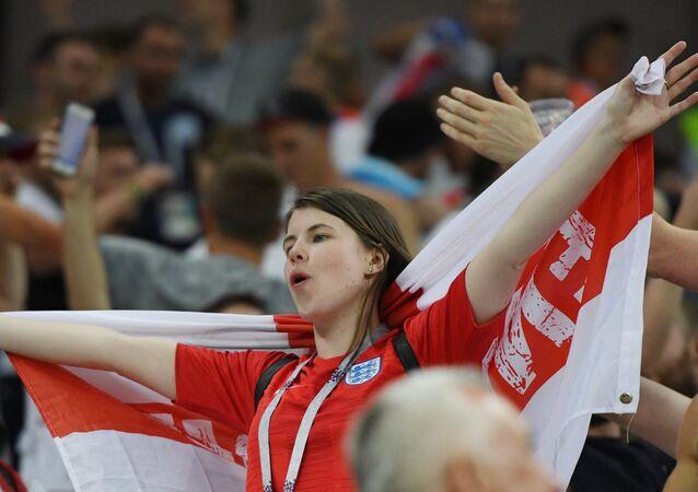 Una hincha inglesa en el Mundial de Rusia