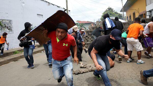 Enfrentamiento en Masaya (oeste de Nicaragua) - Sputnik Mundo