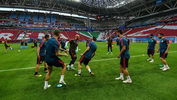Un entrenamiento de la selección española en Kazán - Sputnik Mundo