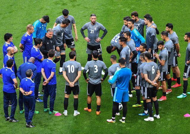 Un entrenamiento de la selección iraní en Kazán