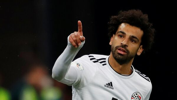 Mohamed Salah, el delantero del equipo egipcio - Sputnik Mundo