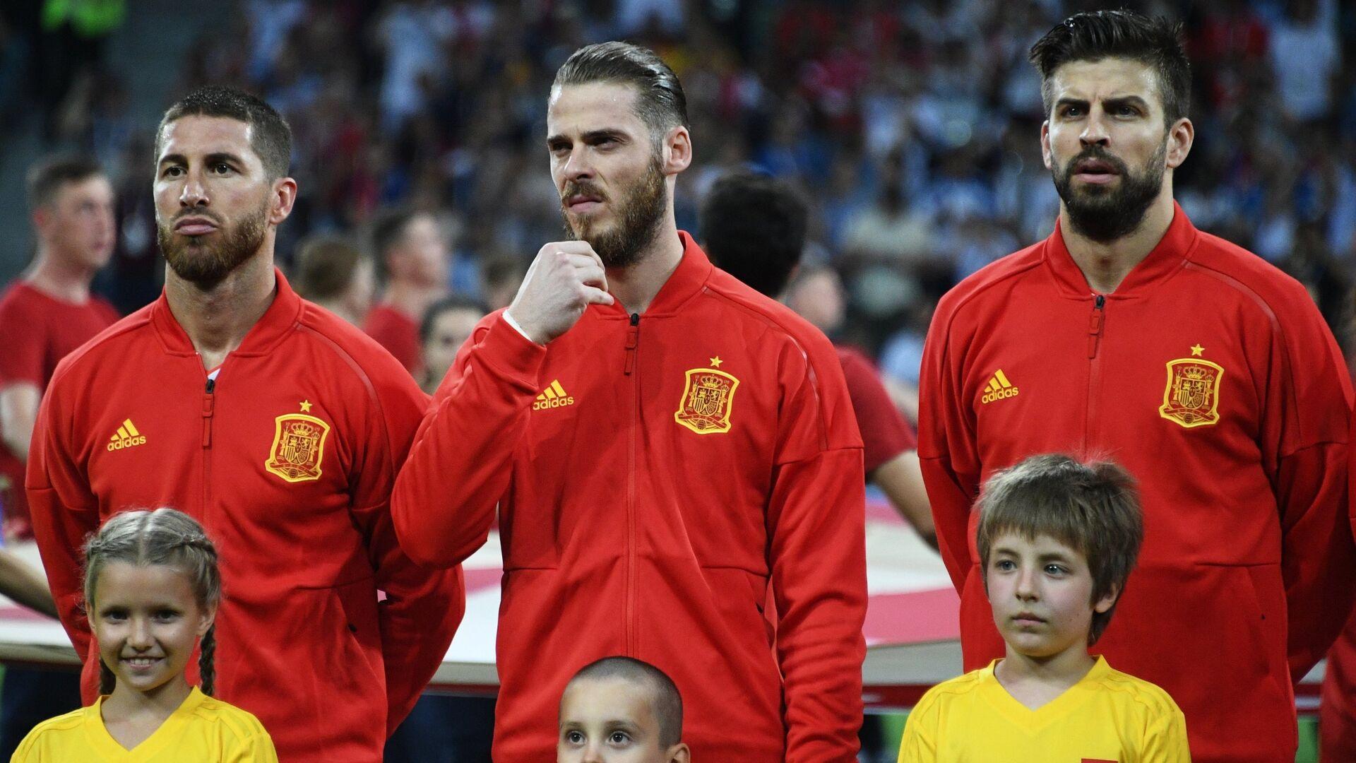 Los futbolistas de la selección española - Sputnik Mundo, 1920, 24.05.2021