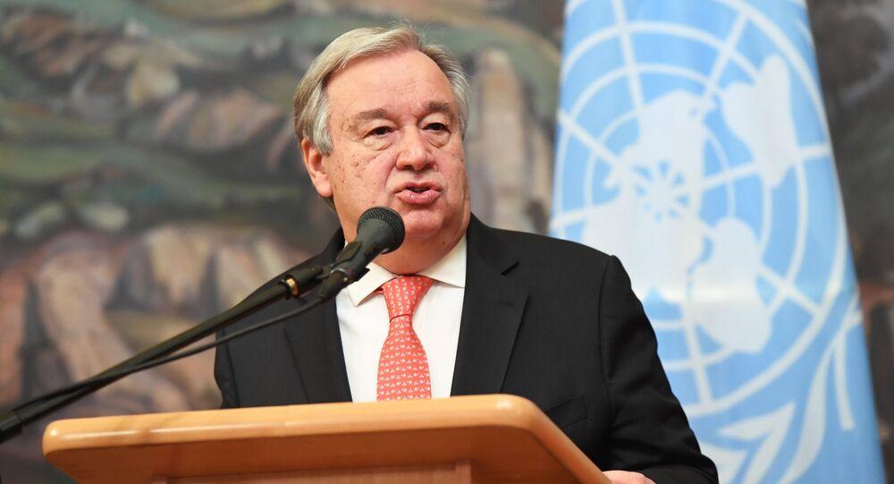 Antonio Guterres, secretario general de la ONU