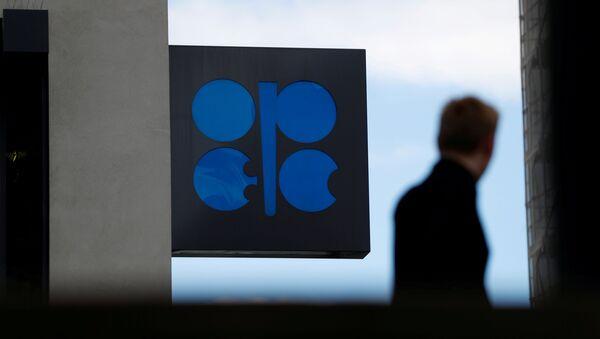 Logo de OPEP en la sede de la organización en Viena - Sputnik Mundo