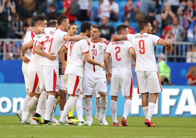 La selección de Serbia (archivo)