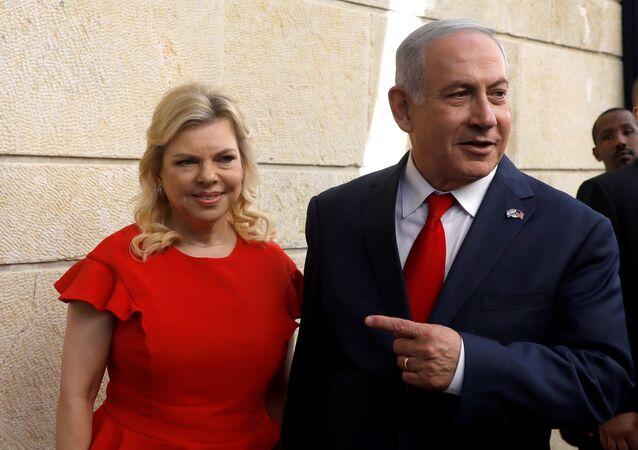 El primer ministro israelí, Benjamín Netanyahu y su esposa Sara Netanyahu