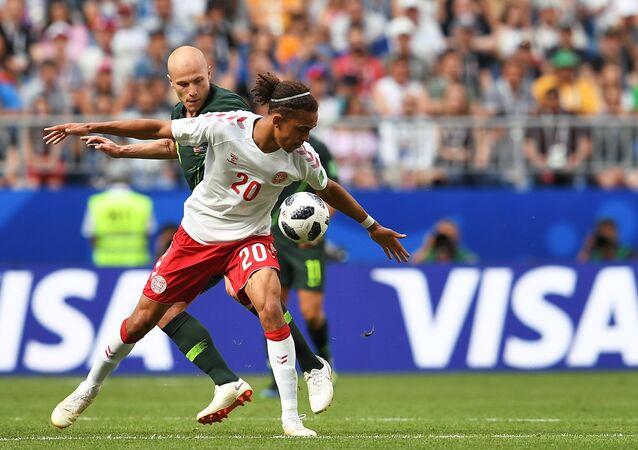 El partido entre Australia y Dinamarca en el Mundial 2018