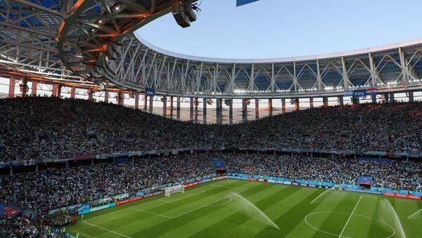 El Estadio de Nizhni Nóvgorod momentos antes del partido entre Argentina y Croacia - Sputnik Mundo