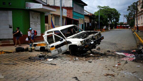 Protestas en Masaya, Nicaragua (archivo) - Sputnik Mundo