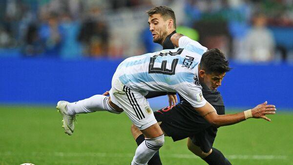 El partido Argentina-Croacia - Sputnik Mundo