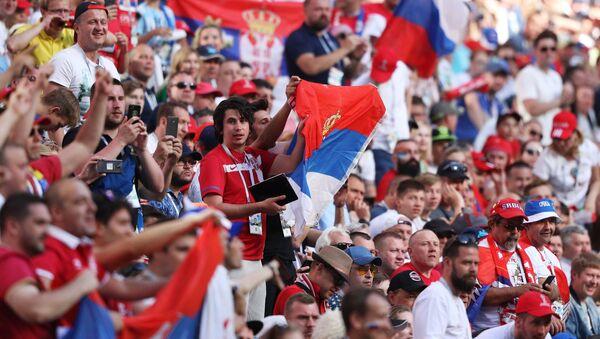 Hinchas serbios en el Mundial de Rusia (archivo) - Sputnik Mundo