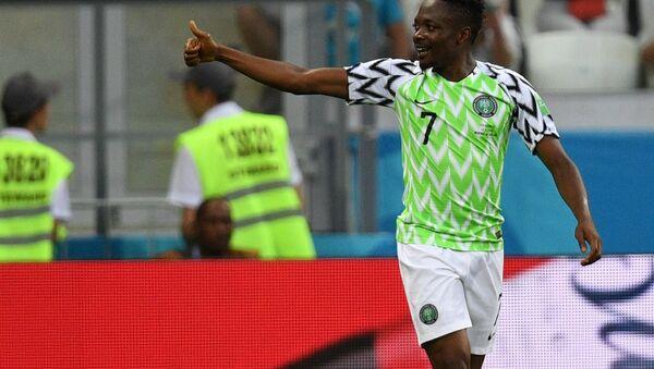 Ahmed Musa, jugador de la selección de Nigeria - Sputnik Mundo