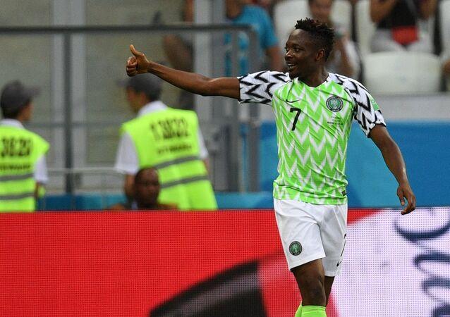 Ahmed Musa, jugador de la selección de Nigeria