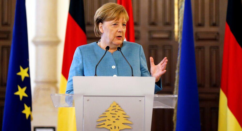 Angela Merkel, canciller de Alemania en Beirut, Líbano