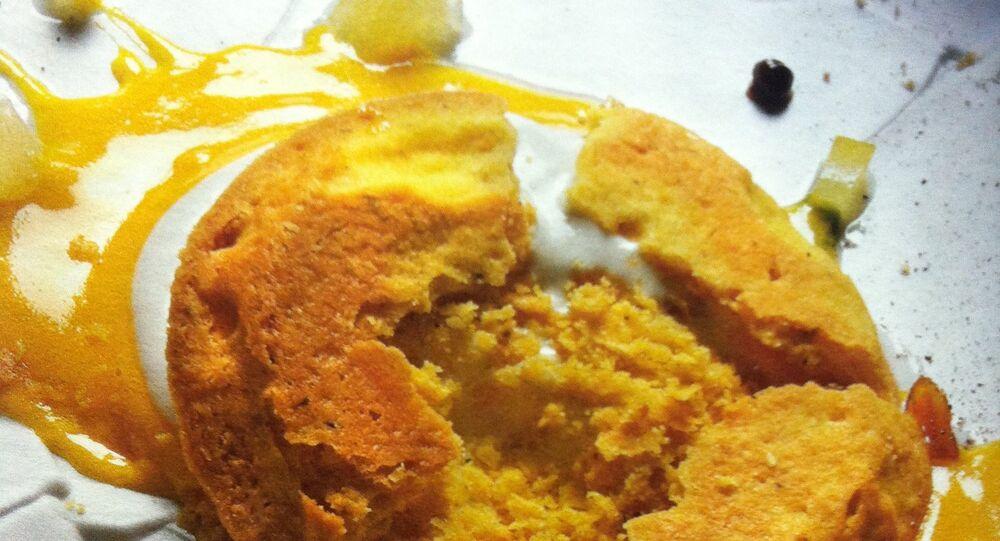 """Oops! I've dropped the lemon tart!"" (¡Oops! He dejado caer la tarta de limón), plato de Massimo Bottura."