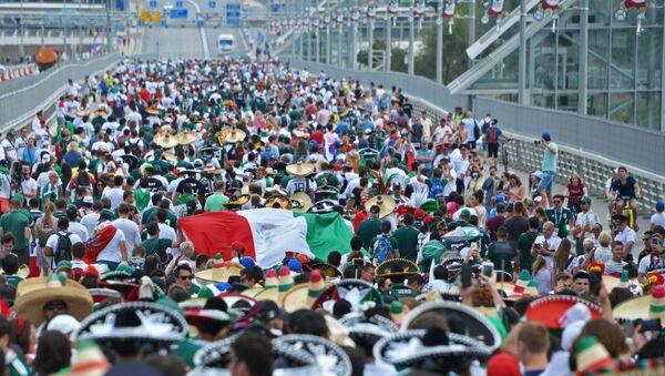 Hinchas mexicanos en Rostov del Don - Sputnik Mundo