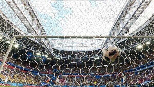 Un gol durante el partido Brasil - Costa Rica en el Mundial en Rusia - Sputnik Mundo