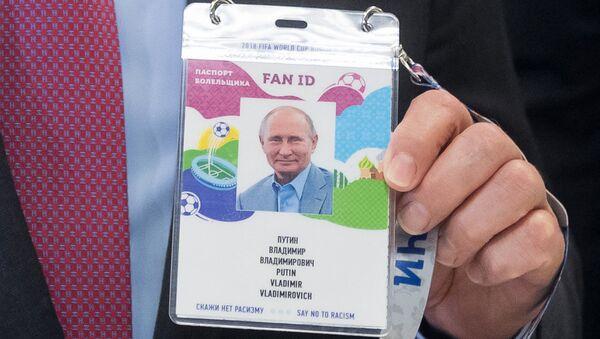 El Fan ID de Vladímir Putin - Sputnik Mundo