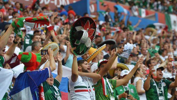 Los hinchas en el partido México-Corea del Sur - Sputnik Mundo