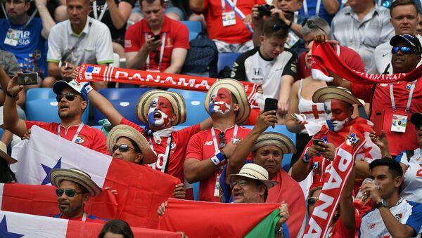 Los hinchas en el partido entre Panamá e Inglaterra en el estadio de Nizhni Nóvgorod - Sputnik Mundo