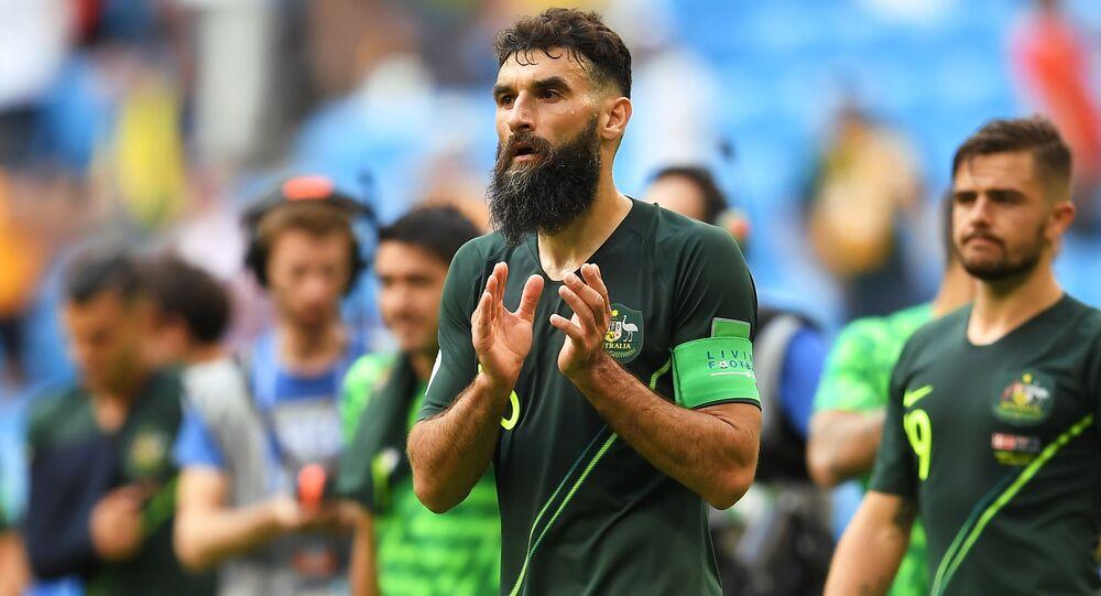 El capitán del equipo australiano, Mile Jedinak