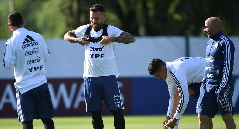 Un entrenamiento del equipo argentino en Bronnitsi