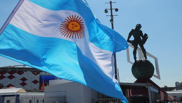 Bandera de Argentina en Moscú - Sputnik Mundo
