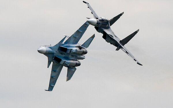 Cazas polivalentes Su-30SM. - Sputnik Mundo